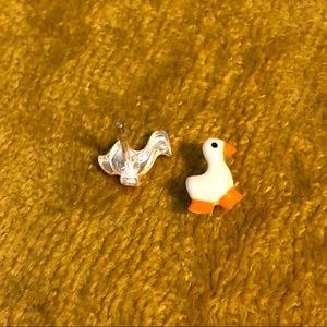 Duck Stud Earrings